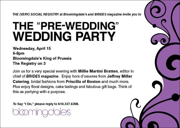 Wedding Celebration Invitation: Look For Us At Bloomies