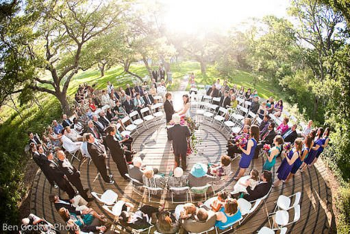 Unique Ceremony Seating Ideas For Outdoor Weddings: Circular Ceremony Seating