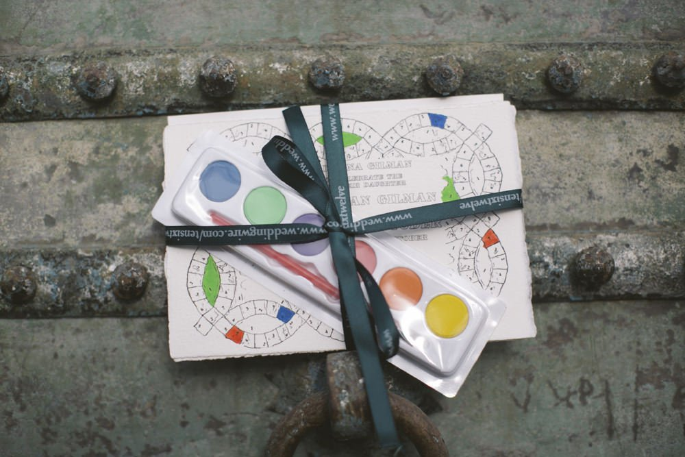 Paint by Numbers Wedding Invitation